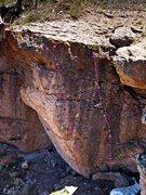 Rock Climbing Photo: It's No Secret 5.11b, on the left