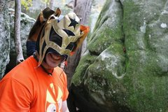 Rock Climbing Photo: Luchador!