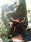 Rock Climbing Photo: Morgan sending in good form... then proceeds to st...