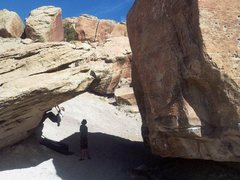 Rock Climbing Photo: My long time desert project V8 after 2 years of wo...