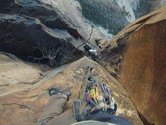 Rock Climbing Photo: The tough stuff on The Night Crawler