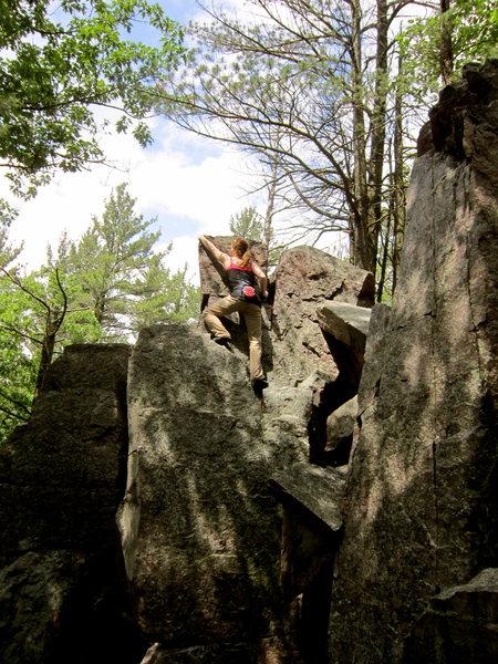 Rock Climbing Photo: Big Easy (V0) Devil's Lake