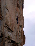Rock Climbing Photo: Eric on the FA