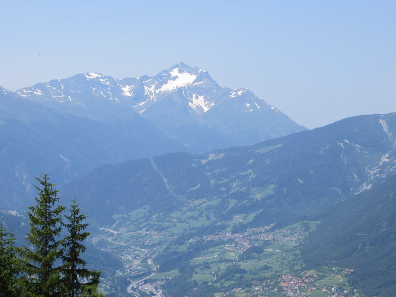 A nice view of the Alpine mountains surrounding Zams.