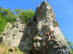 Rock Climbing Photo: Klein aber fein in red and Auch nicht schlecht in ...