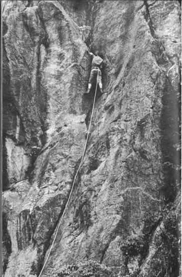 Rock Climbing Photo: P. Hughes on Pitch 1 of King Cobra. Photo Credit: ...