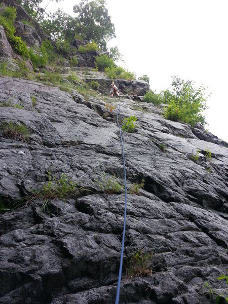 Rock Climbing Photo: Larry S. about to climb through the ceiling on a h...
