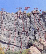 Rock Climbing Photo: Trad finish variations.  Richard's Rift and Route ...