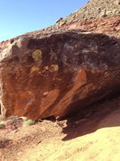 Rock Climbing Photo: The Goose starts in the hueco at the lower left en...
