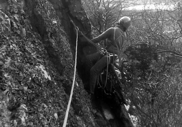 Rock Climbing Photo: Hanging Rock girdle traverse