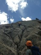 Rock Climbing Photo: Leading pitch 3, by far my favorite pitch on the r...