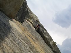 Rock Climbing Photo: Engaging the exciting 5.8 move