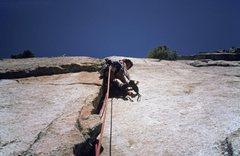 Rock Climbing Photo: Fran Bagenal, pitch 7 (I think it's pitch 7?)