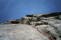 Rock Climbing Photo: Fran Bagenal, pitch 10.