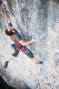 Rock Climbing Photo: Pawel using the worse right hand pinch from the pr...