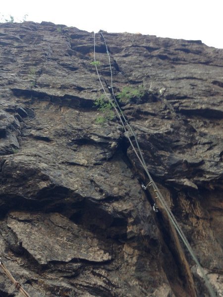 Rock Climbing Photo: Looking up at pitch 2.