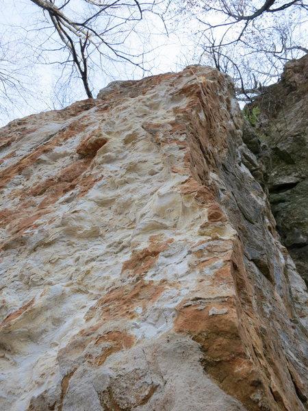 Rock Climbing Photo: Limestone arete