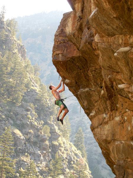 Rock Climbing Photo: Just pretending to be a hero.