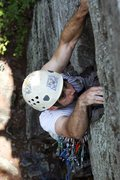 Rock Climbing Photo: Rags to Riches coming through the roof