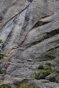 Rock Climbing Photo: Archangel.  One of the best pitches in Dream Canyo...