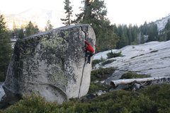 Rock Climbing Photo: Enjoying Olmsted Crack at the end of an early summ...