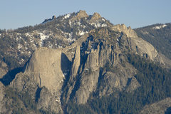 Rock Climbing Photo: The lower formations (Fin and Spire) from Moro Roc...