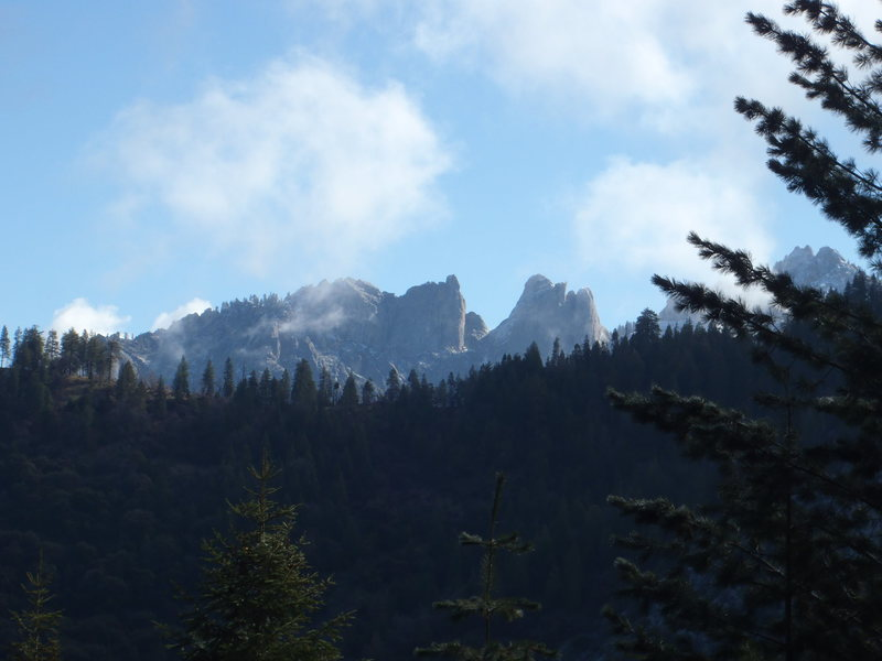 Rock Climbing Photo: The back towers from near Milk Ranch Peak