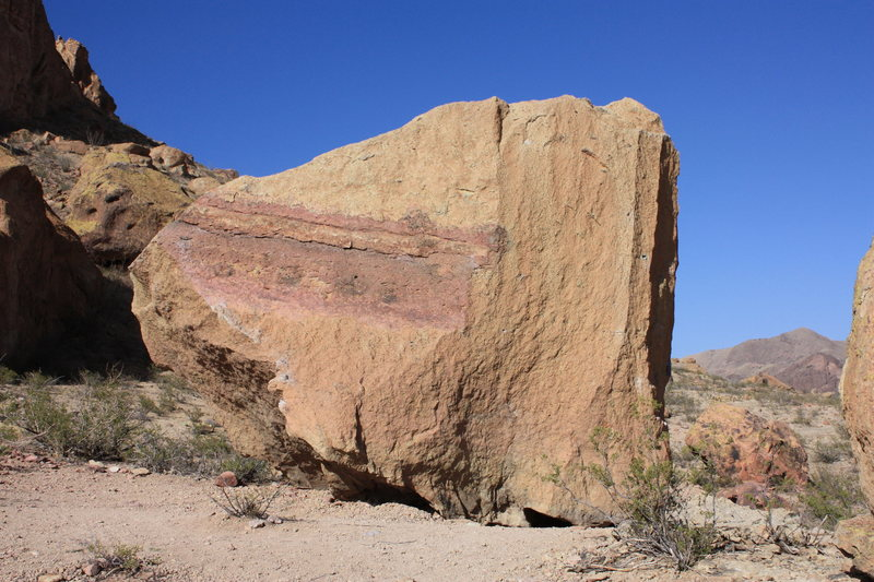 West Face of the Smith/Grandpa Smith boulder. photo credit Michael Szabo