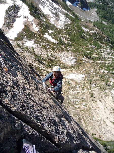 Rock Climbing Photo: grrr arggh grrr... 11a fingercrack in the mountain...