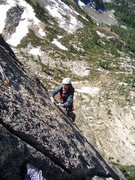 Rock Climbing Photo: grrr arggh grrr... 11a fingercrack in the mountain...