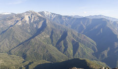 Rock Climbing Photo: A view of the Buckeye Flat approach.  The large sh...