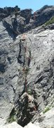 Rock Climbing Photo: Rap route to get to the spire from the fin.  One 7...