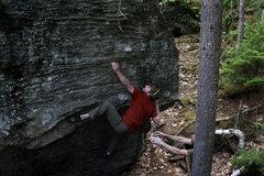 Rock Climbing Photo: Left heel beta works too.