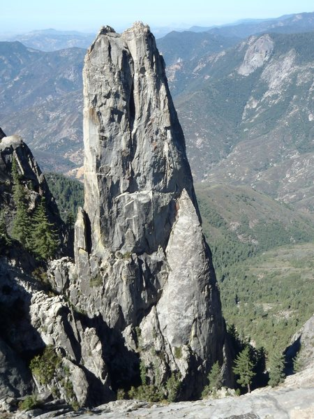 Rock Climbing Photo: The east face of Castle Rock Spire