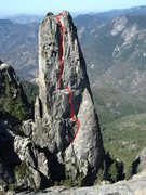 Rock Climbing Photo: Approximate route
