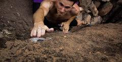Rock Climbing Photo: Long reach to the pocket on fannie mae