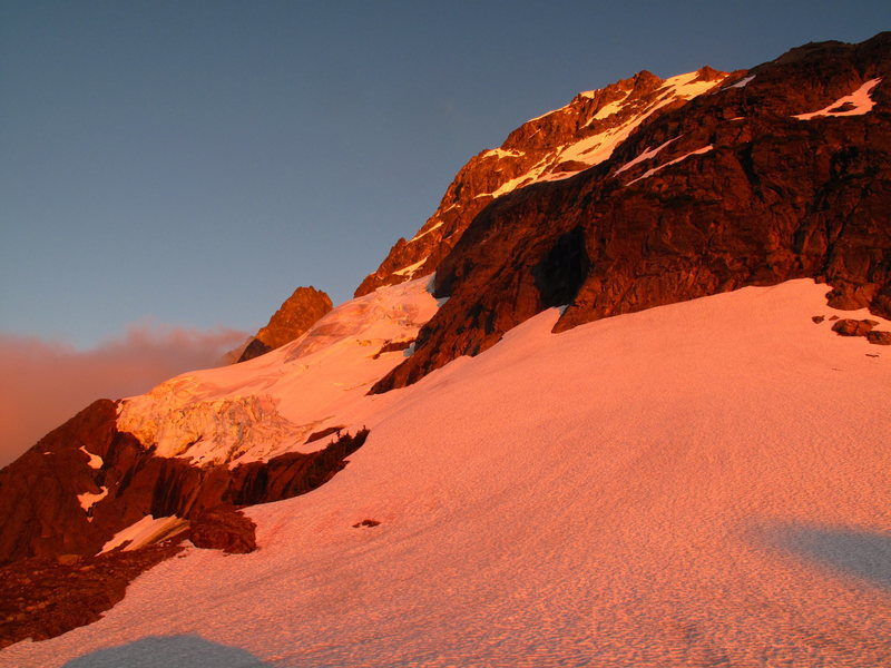The North Face at sunset from the bivy location