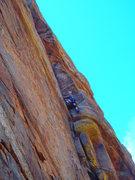 Rock Climbing Photo: Chris near the start of Crows Nest