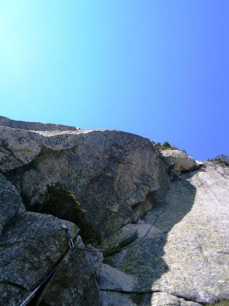 Rock Climbing Photo: Pitch ten (6b+), Zeichen der Freundschaft, just be...