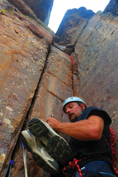Rock Climbing Photo: The crux finger crack.