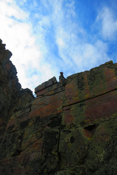 The top of pitch 5 and the end of the technical climbing.