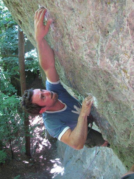 Rock Climbing Photo: The crux of Saruman.