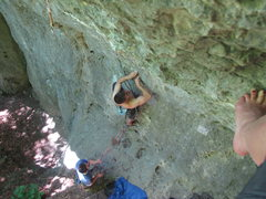 Rock Climbing Photo: Jonas at the first bolt.