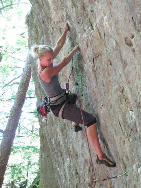 Rock Climbing Photo: Fanny on Aragorn