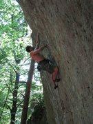 Rock Climbing Photo: This photo shows the gradually increasing overhang...