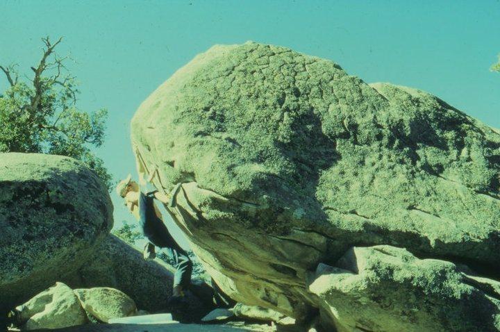 Rock Climbing Photo: JJ firing off Moonstone 1998