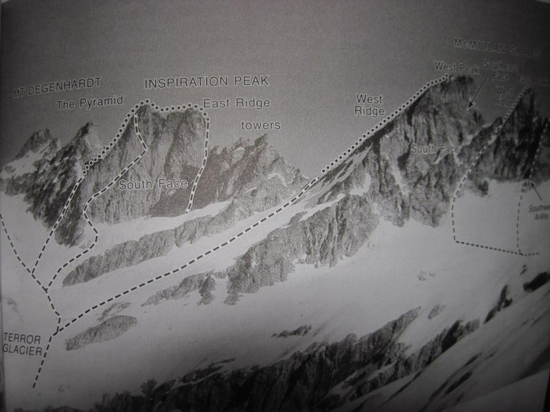 Routes on Inspiration Peak