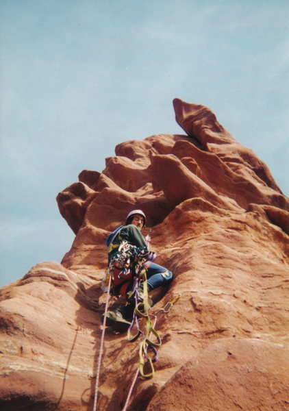 ...Doug Hall gaining the summit ridge