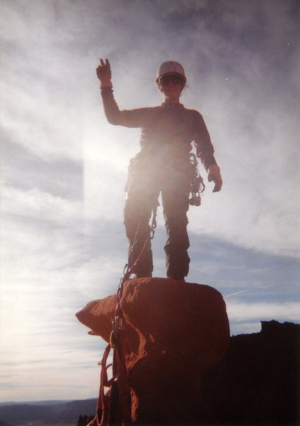 Rock Climbing Photo: scan of me on the summit