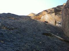 Rock Climbing Photo: Aaron sending Pitch 3.